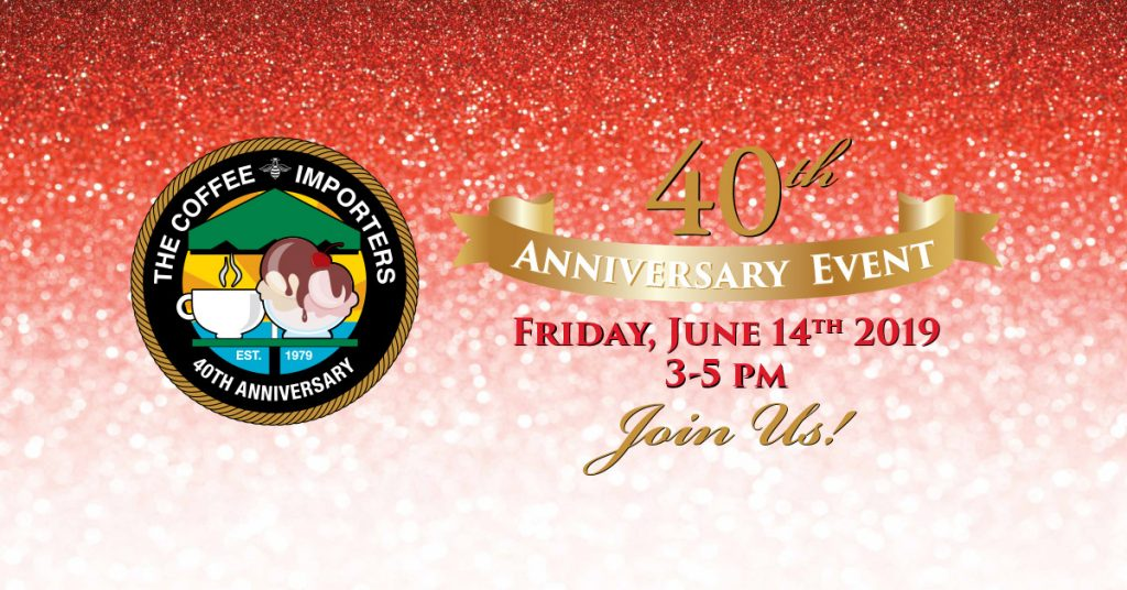 Coffee Importers 40th Anniversary Event