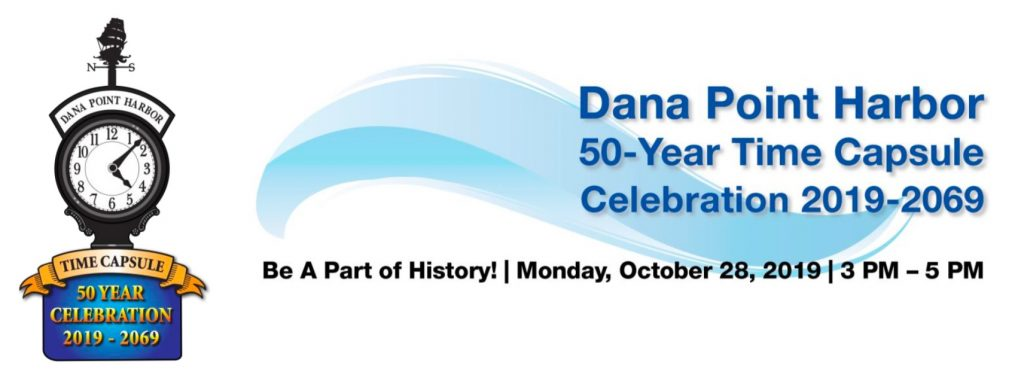 Logo for Dana Point Harbor Time Capsule Event 50-year